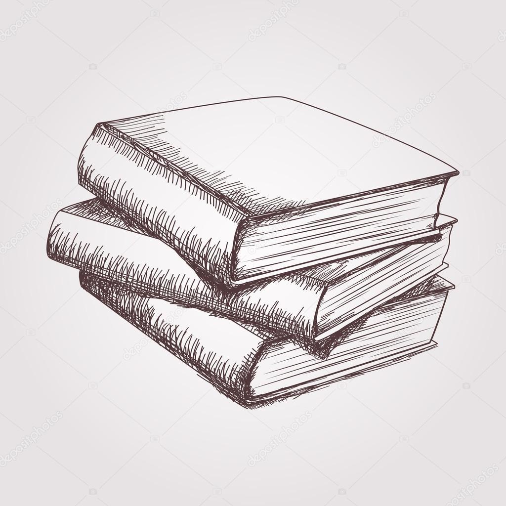 Bücherstapel gezeichnet  Bücherstapel Gezeichnet | daredevz.com
