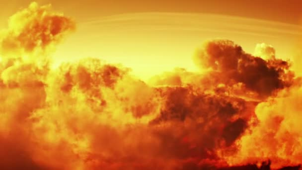 západ slunce letu nad mraky