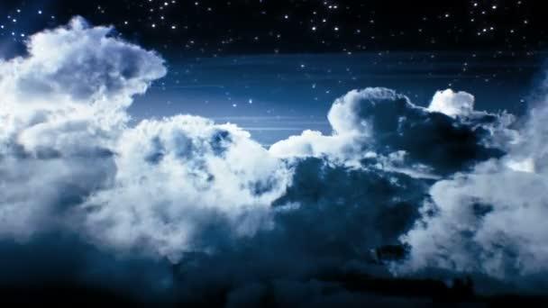Noční let nad mraky