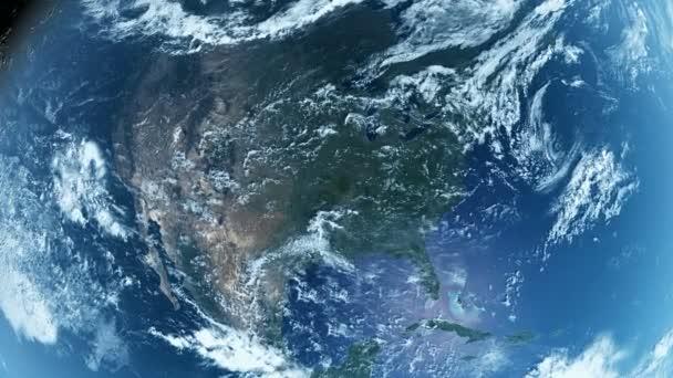 Severní Amerika z vesmíru