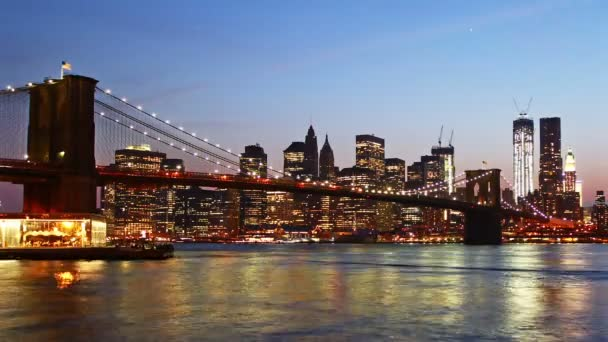 Manhattan Skyline és Brooklyn Bridge