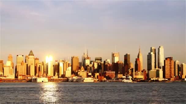 Pohled na panorama Manhattanu z New Jersey