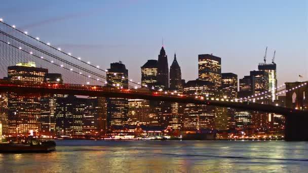 Manhattan Skyline a Brooklyn Bridge