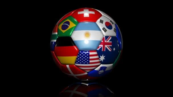 Fußball mit Flaggen