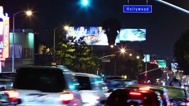 časová prodleva hollywood boulevard provozu v noci