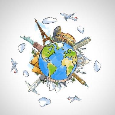 Earth and landmarks