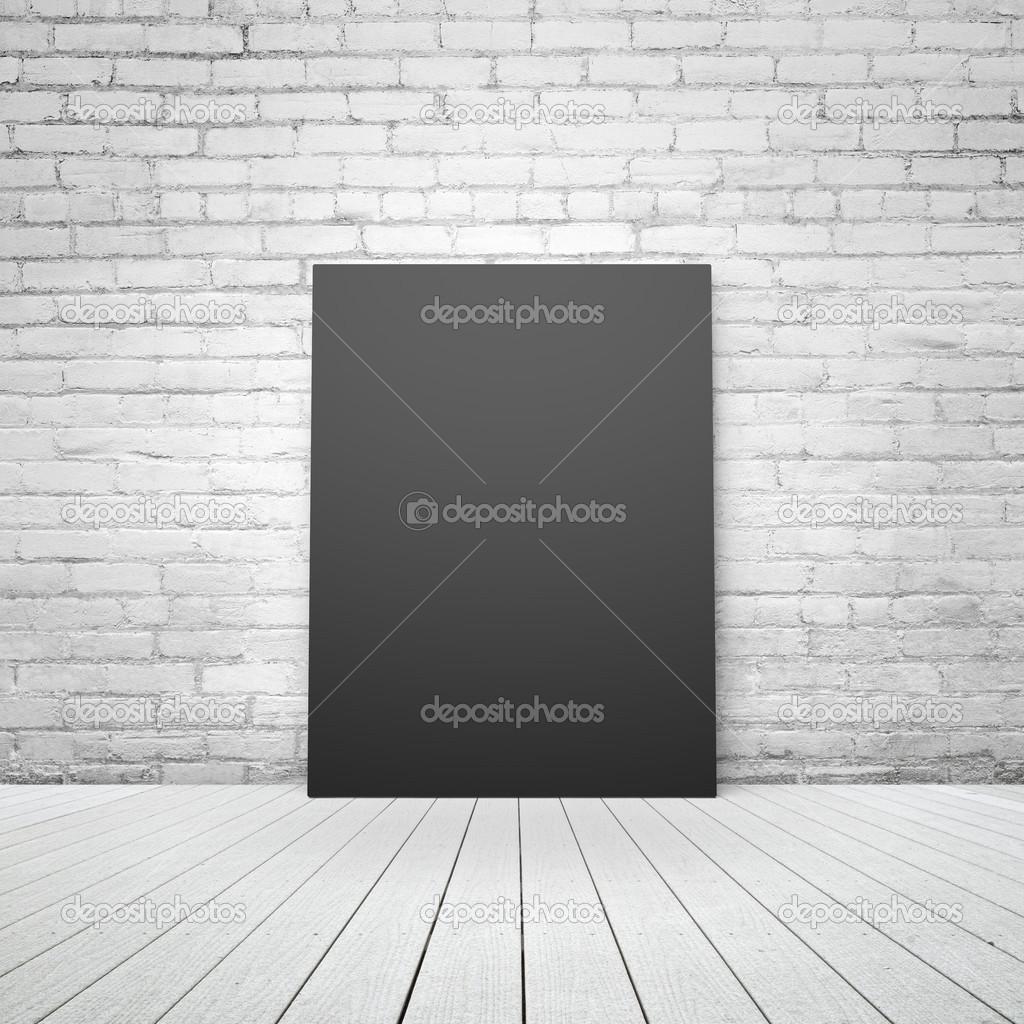 schwarzes Papier in Backstein-Interieur — Stockfoto © peshkov #51544335