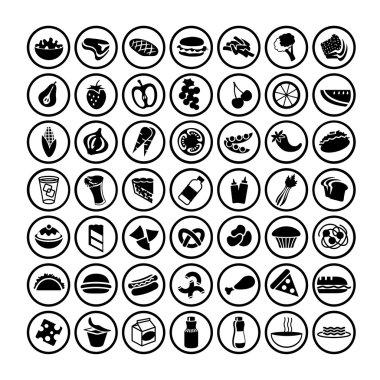 Icons set of many food