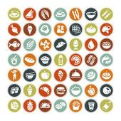 Nagy készlet minden új élelmiszer-ikonok
