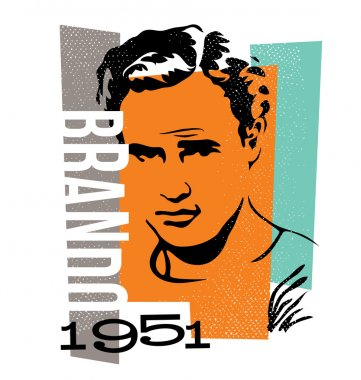 Vector graphic design marlon brando