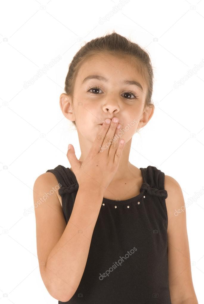Jeune Fille En Collant Noir Avec Des Yeux Brillant -4634