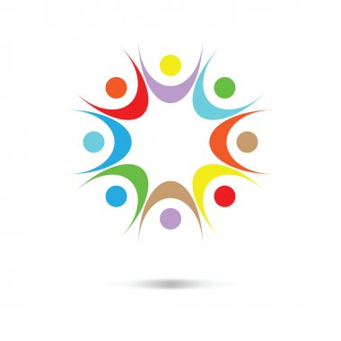 Vector colored abstract people