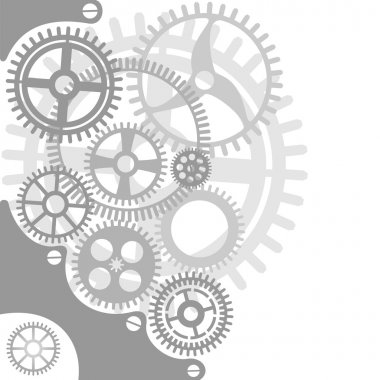 Gear and cogwheel background