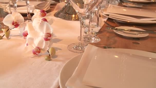 Table setting u2014 Stock Video & Table setting u2014 Stock Video © w-chris #37229675