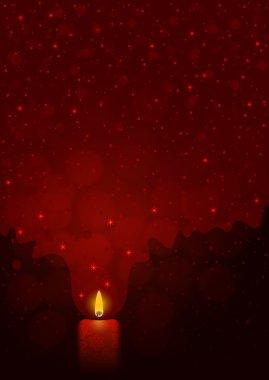 Festive dark red background with light