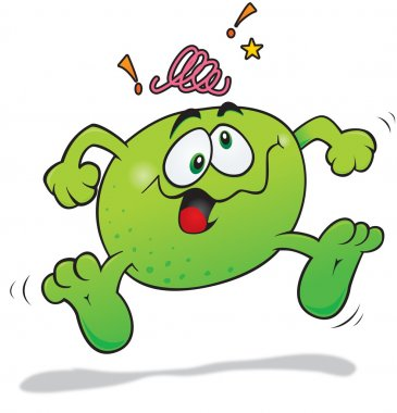 Crazy lime cartoon