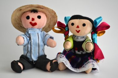 Traditional mexican ethnic hand made doll