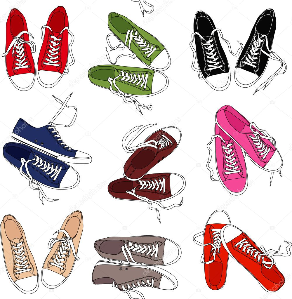 converse shoes clipart. converse shoes pattern \u2014 stock vector #31459809 clipart