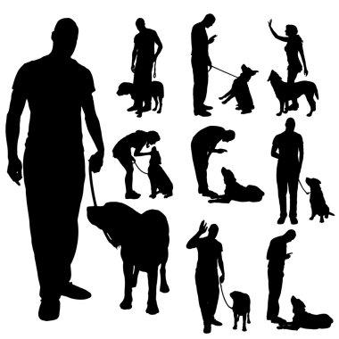 Vector silhouette of poeple.