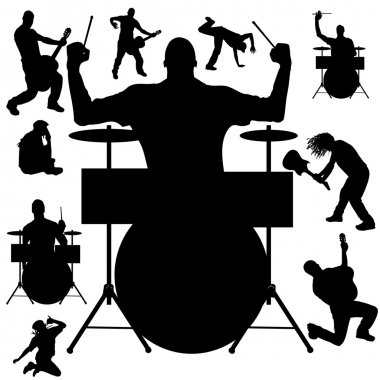 Vector silhouette of the band.