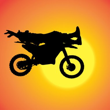 Vector silhouette of extreme jumps.