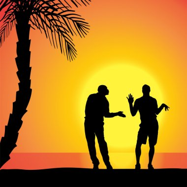 Vector silhouette of homosexuals.