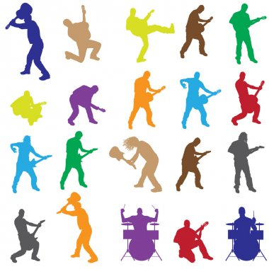 Vector silhouettes of musicians.