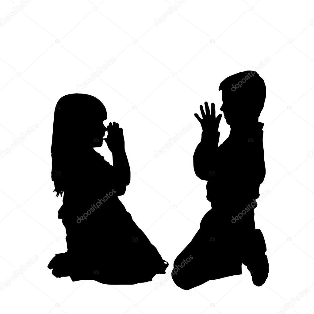 Children Praying — Stock Vector © MAJIVECKA #49508919