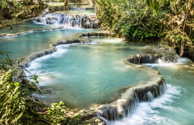 Kuang Si Falls - Waterfalls at Luang Prabang, Laos