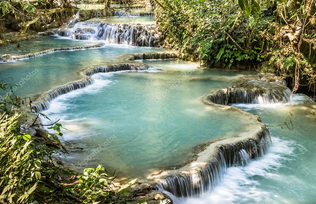 Kuang Si Falls - Waterfalls at Luang Prabang, Laos