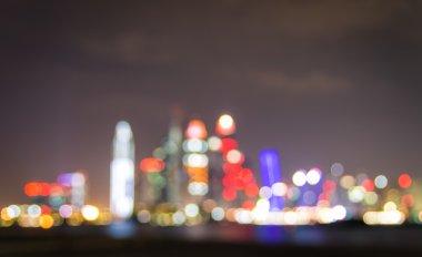 Dubai Marina Skyline - Blurred defocused bokeh