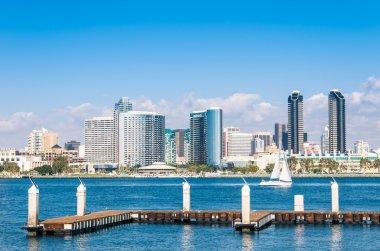 San Diego Skyline from Coronado Island stock vector