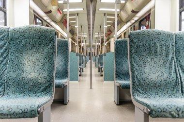 Underground metro Train interior - Modern Subway