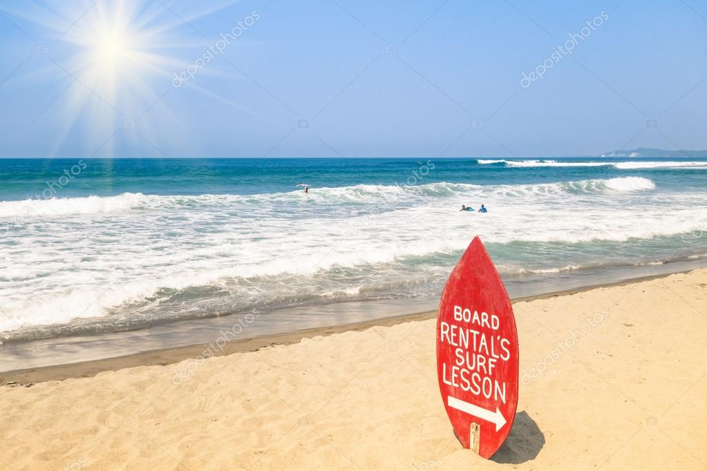 Surf School at a tropical Beach