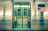 Fotografie Generic underground train - New York CIty