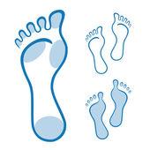 Fotografie Füße Abbildung, die mit geschwungenen Linien