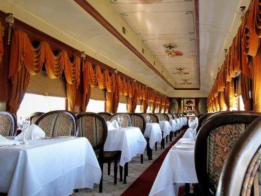 Elegant railway dining car