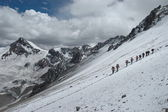 Hikers on their way to Aconcagua