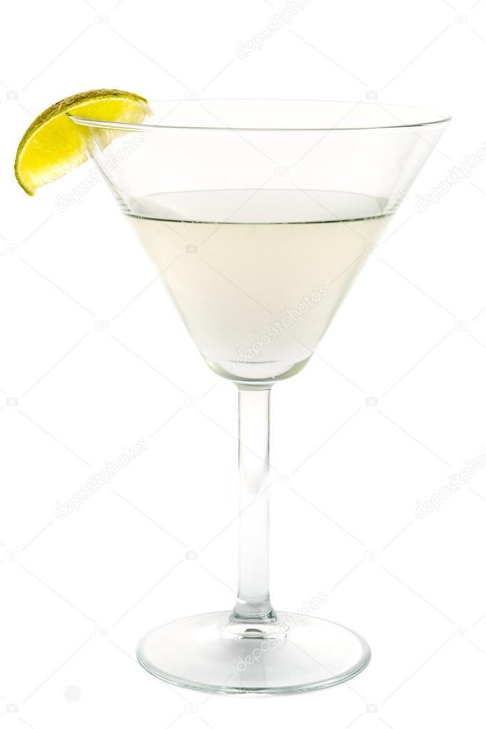 Captivating Transparente Cocktail Mit Kalk Dekoration U2014 Stockfoto