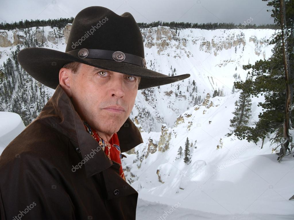 Cowboy in winter