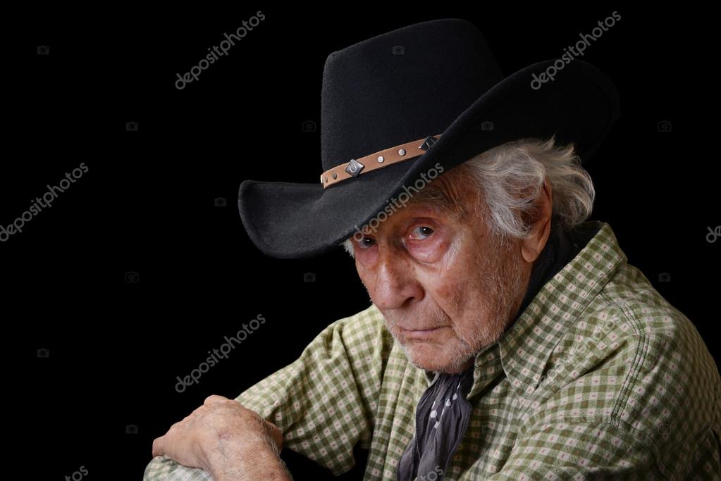 afb82e95a3992 Old cowboy — Stock Photo © spackadet2  30892621