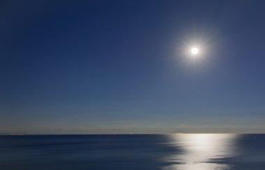 Full moon over the Gulf of Vado Ligure