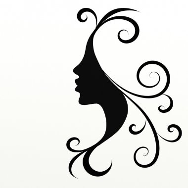 Woman Face Silhouette Portrait