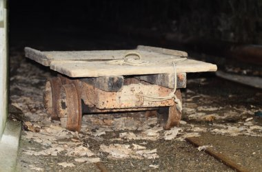 Trolley in an abandoned mine