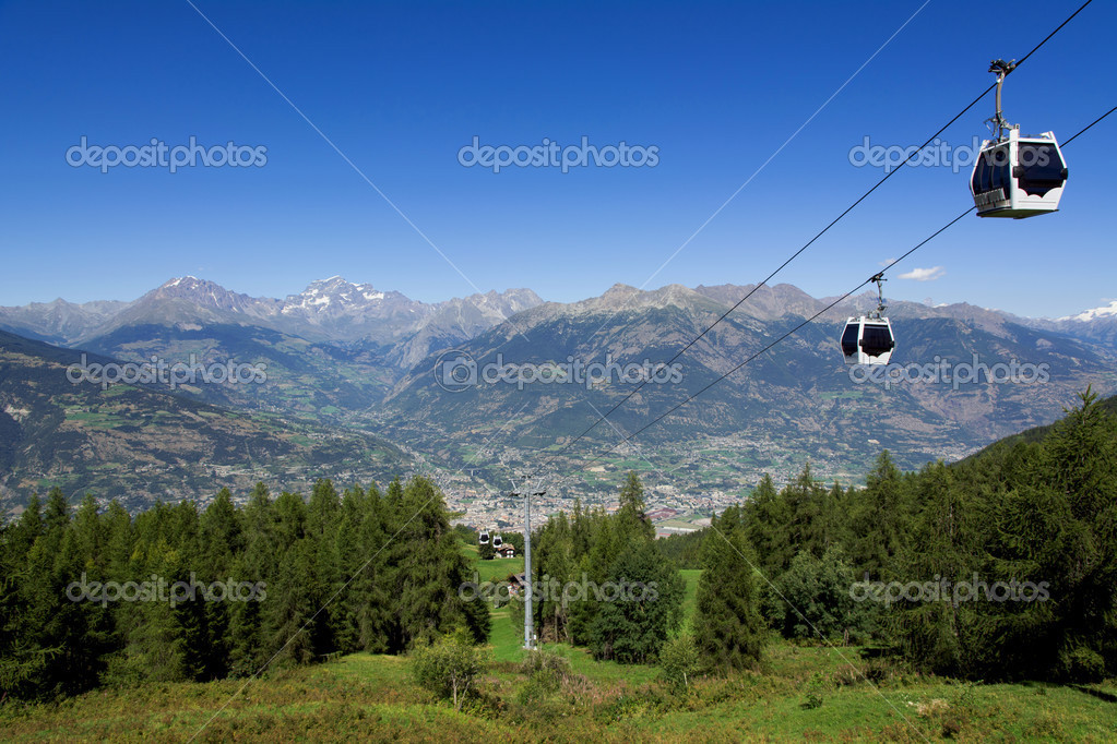Panorama of Aosta Valley - Italy