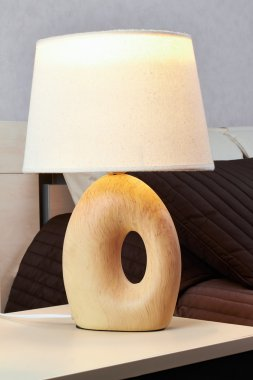 lamp on a night table