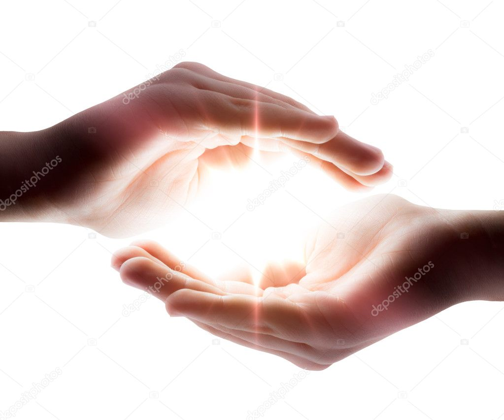Pray: light in his hands