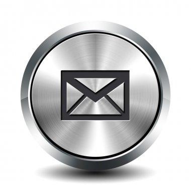 Round metallic button - email