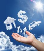 sny na obloze: auto, domov, peníze a rodinu
