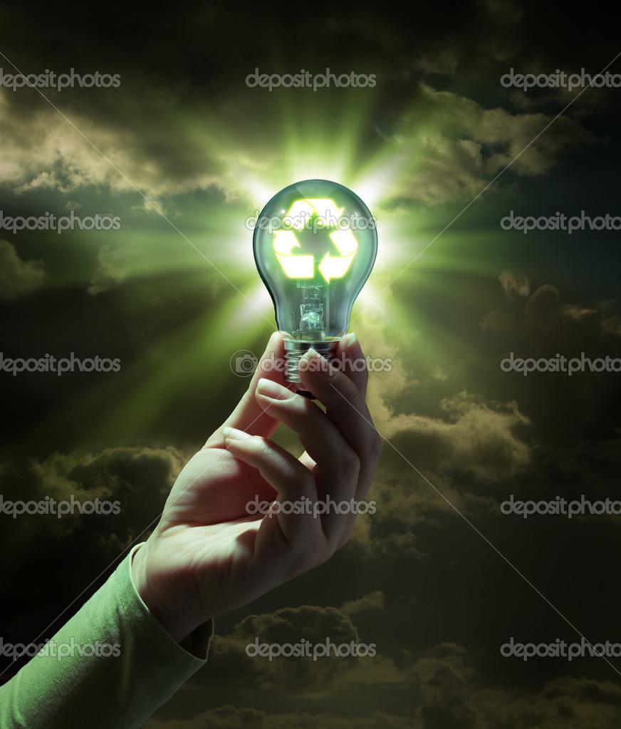 Idea green energy - recycle concept